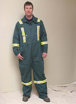fc13e03e94e6 A basic (Contractor) Flame Resistant   Fire Retardant Work Coverall  offering Top Quality Construction  Fully Striped parallels on Front